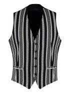 Tagliatore Brian Cotton Knit Waistcoat - blue
