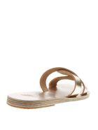 Ancient Greek Sandals Desmos Platinum Leather Sandals - Platinum