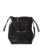 Saint Laurent Black Teddy Bag In Lambskin - Black