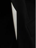Haider Ackermann Contrast Trim Blazer - BLACK WHITE