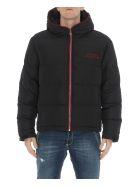 Versace Collection Back Logo Down Jacket - Black