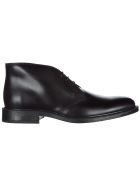 Tod's  Leather Desert Boots Lace Up Ankle Boots - Black