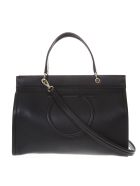 Salvatore Ferragamo Meera Black Leather Tote Bag - Black