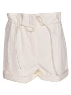 Tela Drawstring Cropped Shorts - White