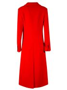 MSGM Double-breasted Long Coat - Red