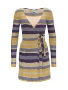 M Missoni Ribbed Lurex Dress - Multicolor