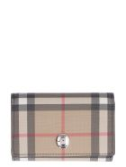 Burberry Vintage Check Fabric Wallet - Beige