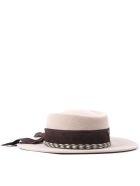 Ruslan Baginskiy Beige Wool Embroidery Logo Band Hat - Beige/brown