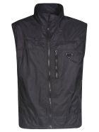 Prada Zip Logo Vest - Black