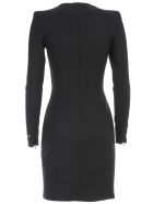 Dsquared2 Dress L/s Arwen Zipped Split Stretch Worsted Wool - Black