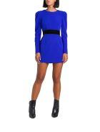 Parosh Short Dress With Puffed Sleeves - Blu