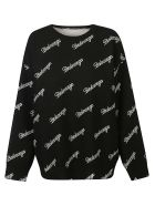 Balenciaga Signature Logo Sweater - Nero