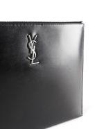 Saint Laurent Monogram Tablet Holder - Black