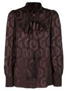 Dolce & Gabbana Brown Silk Shirt - Brown