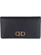 Salvatore Ferragamo Gancini Leather Wallet - black