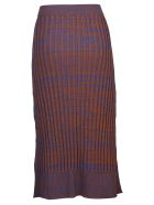 Jil Sander Navy Ribbed Pencil Skirt - Basic