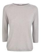 A Punto B Quarter-length Sleeved Sweater - Ecru