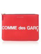 Comme des Garçons Wallet Wallet Large Huge Logo - Red