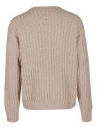 Salvatore Ferragamo Beige Virgin Wool Sweatshirt - DUNE