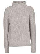 Peserico High Neck Sweater - Grey