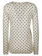 RED Valentino Dotted Sweatshirt - Ivory