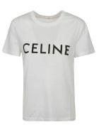 Celine Logo T-shirt - Ob Off White Black