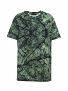 Mr & Mrs Italy Marble-printed Oversized T-shirt For Man - GREEN MARBLE