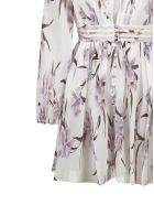 Zimmermann Floral Print Dress - Avorio lilla orchidea