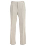 Aspesi High-waisted Trousers - Gesso
