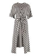 Stella McCartney Striped Silk Dress - Nero