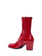 Gucci Patent Leather Boot - Rosso