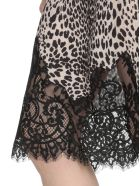 McQ Alexander McQueen Animaler Patterned Dress - BLACK/WHITE
