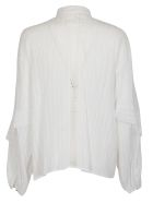 8PM Ruffled Shirt - White
