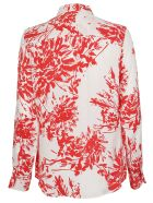 Equipment Tropical Print Shirt - Rosso/bianco
