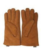 UGG Brown Suede Leather Gloves - MARRONE