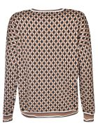 Happy Sheep Patterned Sweater - Beige/Multicolor