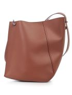 Lanvin Asimmetrical Becket Bag Medium Size - Caramel