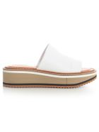 Clergerie High Open Toe Slippers Nappa - Blanc