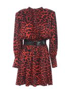 Federica Tosi Belted Dress - Rosso/nero