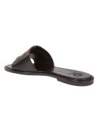 Tory Burch Ines Sliders - Perfect Black/silver