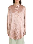 Acne Studios Sophi Shirt With Embossed Floral Motif - Rosa
