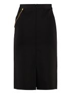 Givenchy Stretch Pencil Skirt With Zip - black