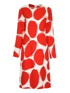 Marni Printed Cady Dress - Ivory