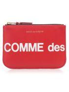 Comme des Garçons Wallet Wallet Huge Logo - Red