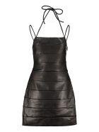 STAUD Buzz Faux Leather Mini-dress - black