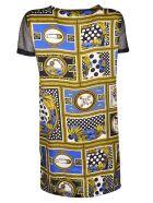 Versus Versace Printed Classic Dress - Cobalto