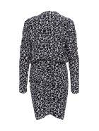 Isabel Marant Étoile Selwin Dress In Viscose - White/black
