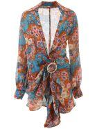 Dodo Bar Or Lora Mini Dress - BROWN (Light blue)
