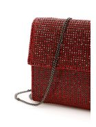 Marco de Vincenzo Crystal Wallet With Chain - SIAM FRAGOLA RUB (Red)
