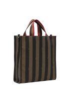 Fendi Striped Tote Bag - Marrone